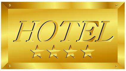 Schild 4 Sterne Hotel in Gold