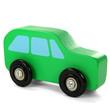 Grünes Holzauto