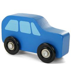 Blaues Holzauto