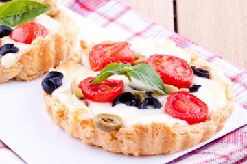 homemade tomato and cheese tart