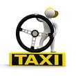 3D Man taxi driver