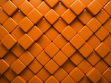 Abstract pattern of  rhombus orange pieces poster