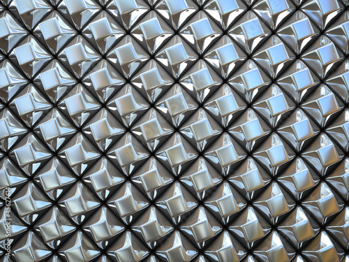 poster of Abstract pattern of  small metal rhombus  pieces