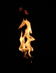 Detalle de una llama,antorcha, fuego.