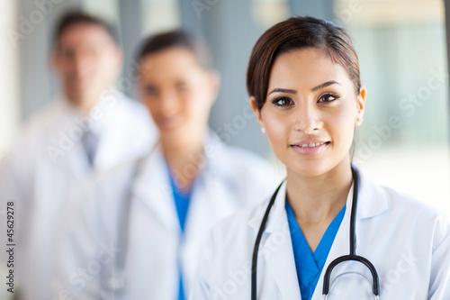 beautiful healthcare workers portrait in hospital - 45629278
