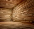 3d corner of old grunge wooden interior