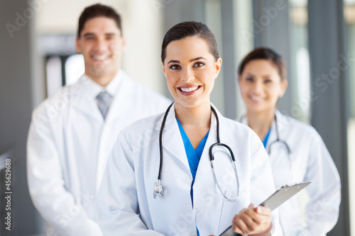 group of medical workers portrait in hospital - 45629688