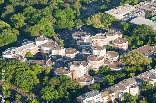 canvas print picture Universitaet Duisburg von oben