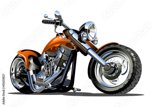 Aluminium Motorfiets Vector Cartoon Motorbike