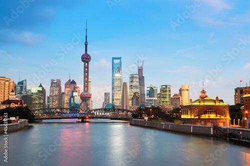 Poster beautiful night in shanghai