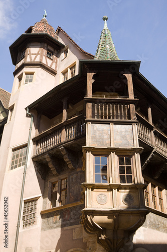 The famous Renaissance house in Colmar, France