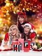 the unlike trio 04/Teufel, Christkind und Weihnachtsmann mit Ges