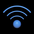 3d blue wifi sign