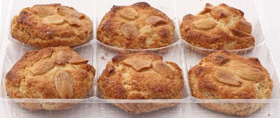 Barquette de biscuits aux amandes