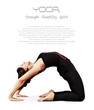 Girl in bridge yoga pose