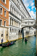 Gondolas and bridge of sighs - Venice