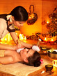 Woman getting facial  massage.