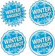 Button Winterangebot - blau/silber