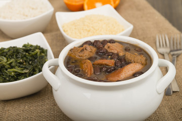 Feijoada - Brazilian meat and bean stew & side dishes