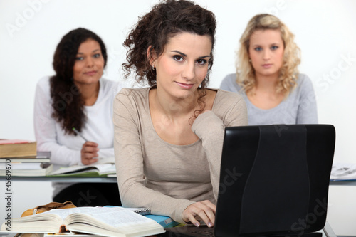 Three women in class