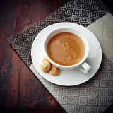 Caffe Crema with Biscotti