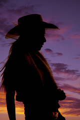 woman wind cowgirl sunset