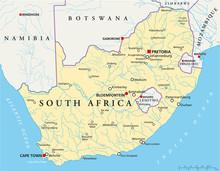 Карта Южной Африки (Südafrika Landkarte)