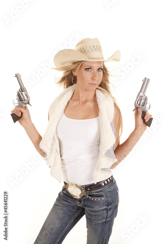 cowgirl vest two guns up