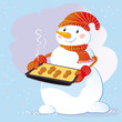 Snowman And Gingerbread Cookies.