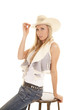 cowgirl vest sit stool