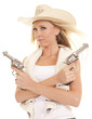 cowgirl vest two guns crossed