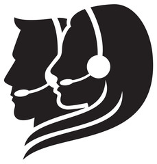 headset symbol call center