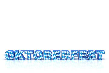 Schriftzug Oktoberfest Blau