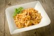 Farfalle al ragù - farfalle pasta with ragout sauce