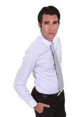 A worried businessman