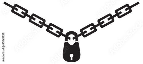 chain and padlock silhouette