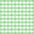 Seamless Gingham Hearts, pastel green, EPS has pattern swatch