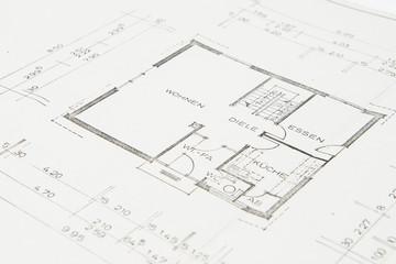 Bauplan Einfamilienhaus