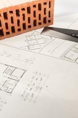 Bauplan eines Eigenheims