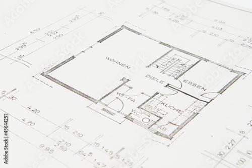 Bauplan Einfamilienhaus Von Benjaminnolte Lizenzfreies