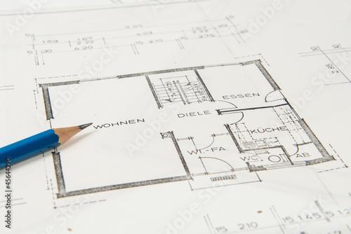 Bauplan einfamilienhaus mit bleistift von benjaminnolte for Einfamilienhaus bauplan