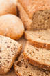 Wholemeal bread lying on the background