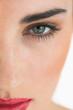 Close up of made up face