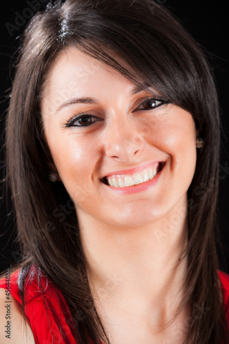 Smiling beautiful woman portrait