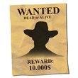 old wanted posters with a cowboy silhouette