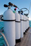 Oxigen tanks for scuba diving