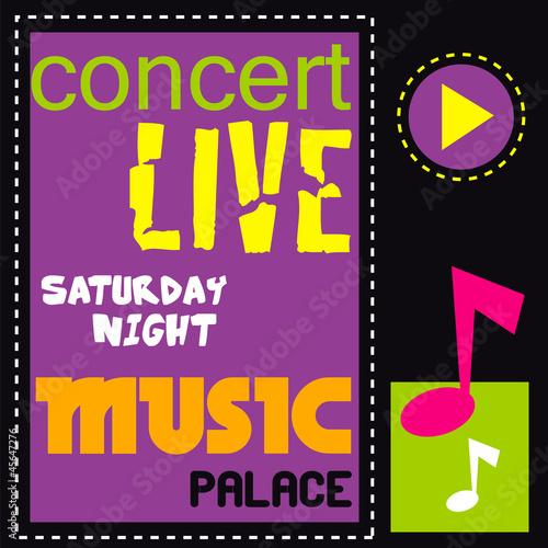 affiche, concert, musique, signalétique, invitation,