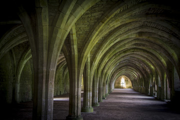 Cellarium  Fountains Abbey