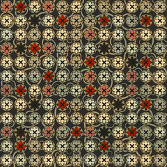 vintage flowers seamless