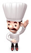 Ask the chef hands up. 3D Chef Character